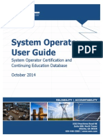 System Operator Certification DL SOCCED System Operator User Guide Oct2014 Final