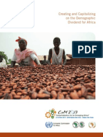 Creating and Capitalizing on the Demographic Dividend for Africa (2013) Economic Commission for Africa