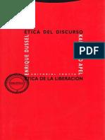 Apel, Karl-Otto - Ética Del Discurso y Ética de La Liberación