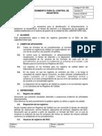 2. Procedimiento Para El Control de Registros