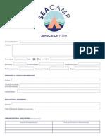 SEA Camp Application Form