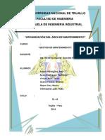 Informe Organización Del Area de Mantenimiento