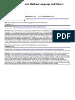 M.E Computer Science Machine Language and Pattern Analysis Projects