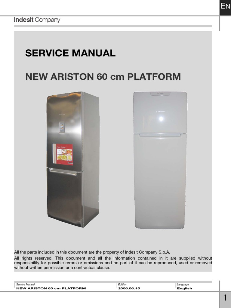 Indesit Service Manual | Refrigerator | Electrical ConnectorScribd