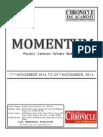 Weekly 17th Nov. to 23rd Nov. 2014