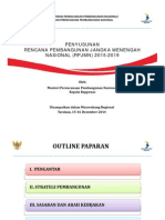 Penyusunan Rencana Pembangunan Jangka Panjang Menengah Nasional (RPJMN) Tahun 2015-2019