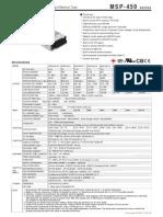 MSP 450 Spec