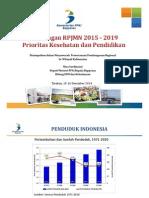 Rancangan RPJMN 2015-2019 Prioritas Kesehatan dan Pendidikan