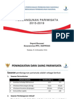 Rancangan RPJMN 2015-2019. Pembangunan Pariwisata