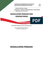 Rancangan RPJMN 2015-2019. Kedaulatan Pangan dan Kemaritiman