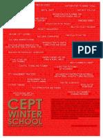 CEPT Winter School 2013 - Course Catalog
