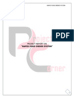 ( Rapid ) Fast Food Ordering System Synopsis
