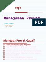 Project Scope - Project Management