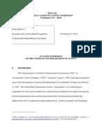 DOJ Broadband Submission to FCC