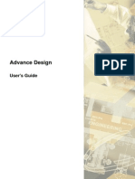 User manual Advance Design