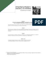Aportes de la Antropología Pedagógica a la la formación y a la enseñanza