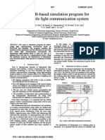 A  MA TLAB-based  simulation  program  for  indoor  visible  light  communication  system
