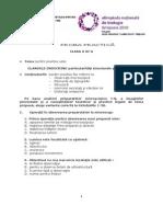 2010 Biologie Etapa Nationala Subiecte Clasa a XI-A 0