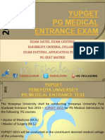 YUPGETYUPGET 2015 Entrance Exam Dates|Deemed Medical Colleges 2015 PG Medical Entrance Exam-1