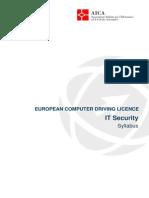 Syllabus ECDL IT Security