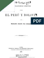 Verdaderos Limites Entre Peru y Bolivia