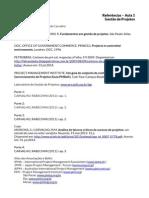 MBA Gestao de Projetos A1 Referencias