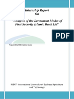 Analysis of the Investment Modes of First Security Islamic Bank Ltd