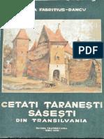 Cetati taranesti sasesti din Transilvania