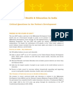 Msw 13Data_The Status of Health & Education in India Critical Questions in the Nation's Development