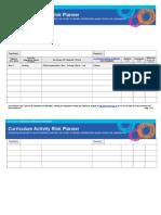 Curriculum Activity Risk Planner