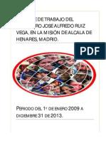 Informe de Trabajo Del Misionero Jose Alfredo Ruiz Vega