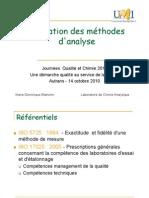 validation methode analyse