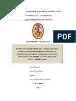 RESPIRACIÓN HETEROTRÓFICA EN MATERIA ORGÁNICA VEGETAL EN DESCOMPOSICIÓN DE DOS PARCELAS PERMANENTES DE LAS LOCALIDADES DE ACJANACO Y PANTIACOLLA DEL PARQUE NACIONAL DEL MANU CUSCO – MADRE DE DIOSi