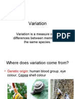 Variation is a Measure of the Differences