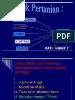 x. Kematangan Hasil