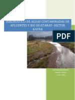 DIAGNOSTICO DE AGUAS CONTAMINADAS DE AFLUENTES Y RIO HUATANAY- SECTOR KAYRA