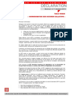 20141212 Declaration Cgt Tr Harmonisation Accords Collectifs