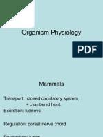 organism physiology