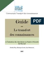 Guide Transfert de Connaissances