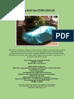 Sarung Mobil Opel PINBB 51EBA220