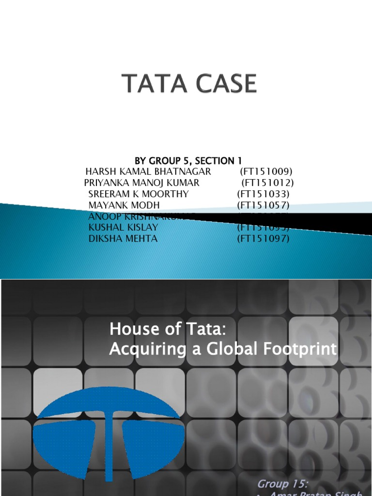 outsourcing to tata case study This case study analyzes the group's strategy in its home and international markets, its most strategic initiatives, secondary problems of over diversification tsmg started projects within the group as a strategy study relating to tata oil mills this was meant to culminate the group sale to hindustan lever.