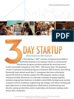 3 Day Startup Program Information Doc