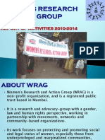 Wrag Report of Activities 2010-14