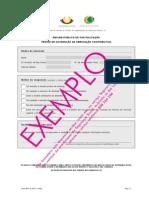 Pedido de suspensão da obrigação contributiva - exemplo
