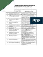 Capacidades Teminales de Las Unidades Didacticas de Computacion e Infomatica Del Iest Palpa