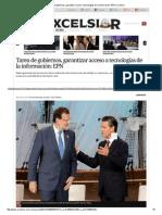 Tarea de Gobiernos, Garantizar Acceso a Tecnologías de La Información_ EPN _ Excelsior