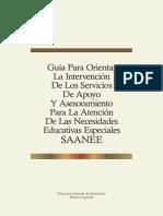 Guía Para Orientar La Intervención de Los SAANEE