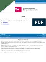 Cima Professional Qualification Exams Tutorials