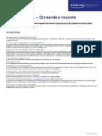 Domande e Risposte - Termini e Condizioni
