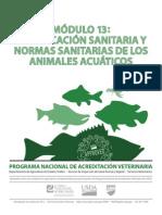 Certificacion Sanitaria y Normas Sanitarias Animales Cuaticos